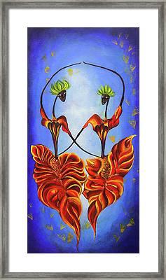 Two Dancing Fairies Framed Print by Nirdesha Munasinghe