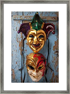 Two Decortive Masks Framed Print by Garry Gay