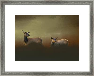 Two Deers Framed Print by Art Spectrum