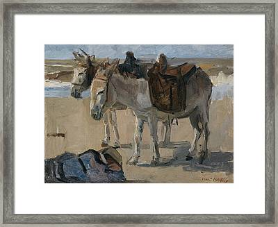 Two Donkeys Framed Print by Isaac Israels