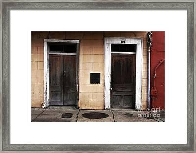 Two Doors Framed Print by John Rizzuto