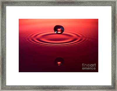 Two Drops And A Ripple Framed Print