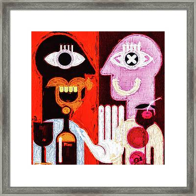 Two Drunk Man Framed Print