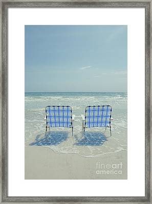 Two Empty Beach Chairs Framed Print