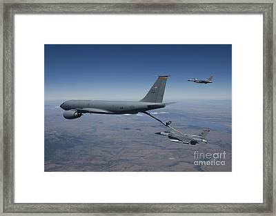 Two F-16 Fighting Falcons Conduct Framed Print