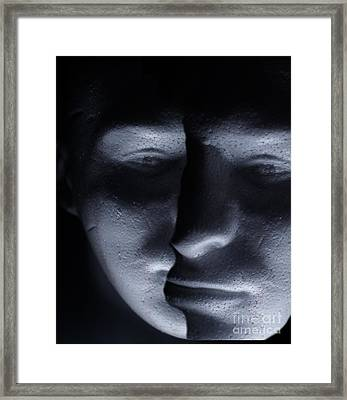 Two Faced Shadow Framed Print