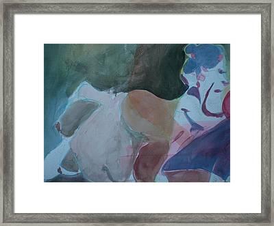 Two Figures Framed Print by Aleksandra Buha