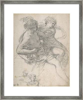 Two Figures For The Age Of Gold Framed Print
