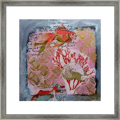 Two Fish Framed Print by Brooke Baxter Howie