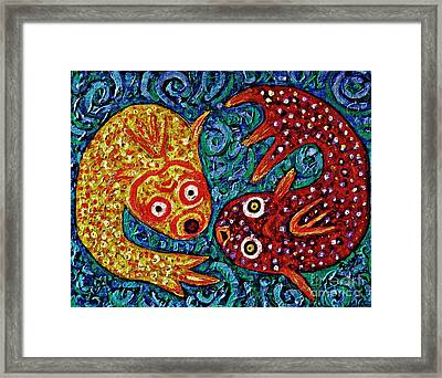Two Fish Framed Print by Sarah Loft