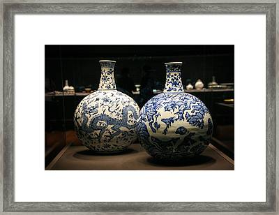 Two Flasks With Dragons Framed Print by Silvia Bruno