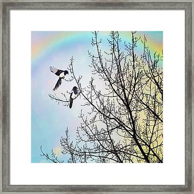 Two For Joy #nurseryrhyme Framed Print