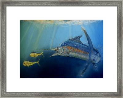 Two For Lunch Framed Print