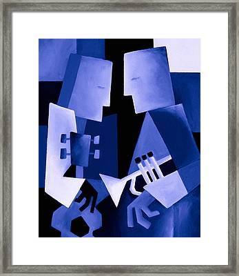 Two For The Blues Framed Print