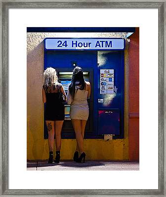 Two For The Money Framed Print