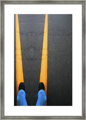 Two For The Road Framed Print by Karol Livote