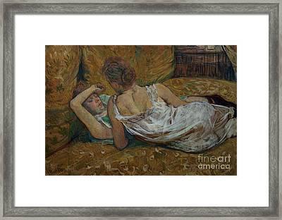 Two Friends Framed Print by Henri de Toulouse-Lautrec