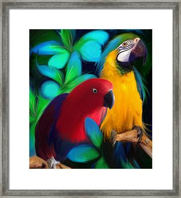 Two Friends  Framed Print by Julianne  Ososke