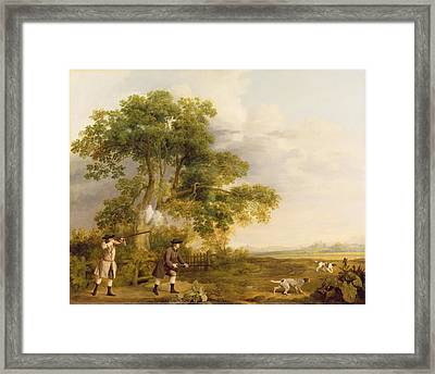 Two Gentlemen Shooting  Framed Print by George Stubbs