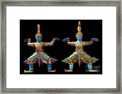 Two Gods Framed Print by Ty Lee