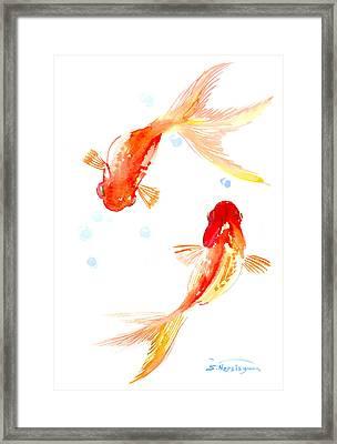 Two Goldfish Feng Shui Framed Print