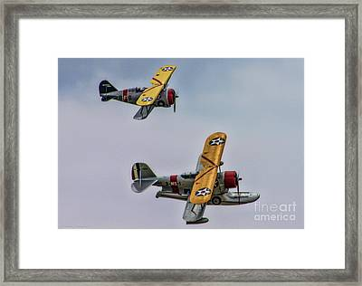 Two Grummans Framed Print by Tommy Anderson