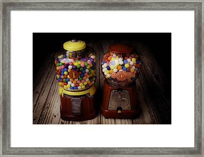 Two Gumball Machines Framed Print