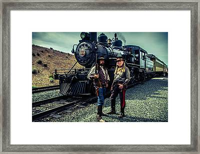 Two Gunfighters Framed Print