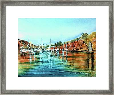 Two Harbors Catalina Morning Impressions Framed Print by Debbie Lewis