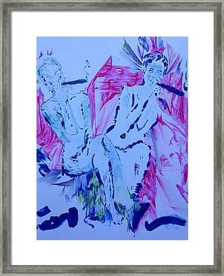 Two Having Fun Framed Print by Contemporary Michael Angelo