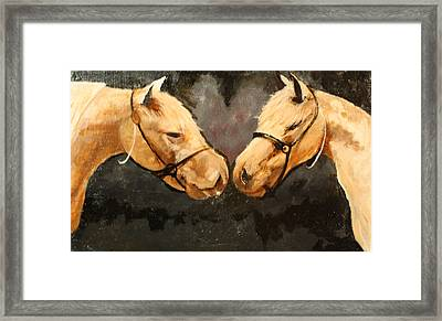 Two Horse Framed Print by Shannon Rains