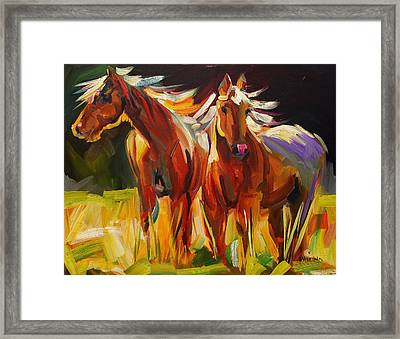 Two Horse Town Framed Print