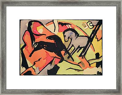 Two Horses Framed Print