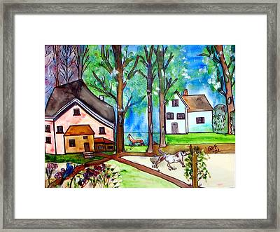 Two Houses In The Woods. Framed Print by Patricia Fragola