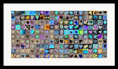 Heart Images Digital Art Framed Prints