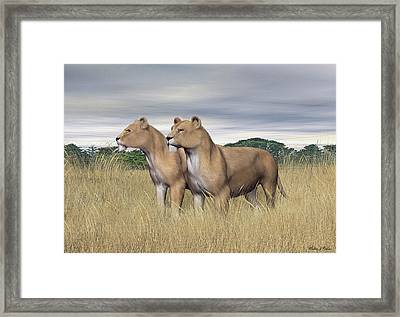 Two Hunters Framed Print