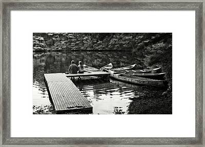 Two In A Boat Framed Print