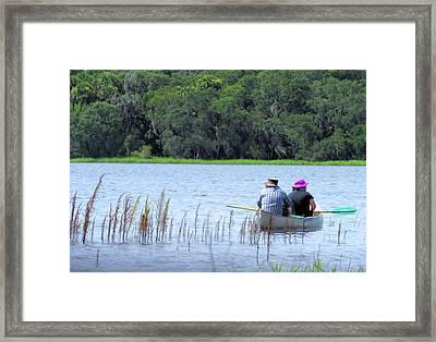 Two In A Canoe Framed Print by Rosalie Scanlon
