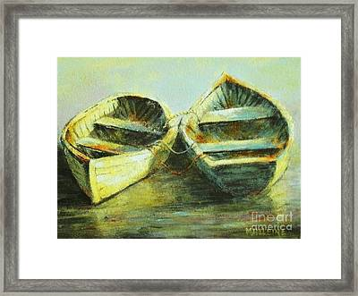 Two In A Row Framed Print by Madeleine Holzberg