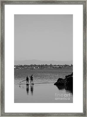 Two In Ocean Framed Print