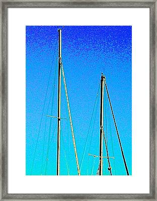 Two If By Sea Framed Print by Katy Granger