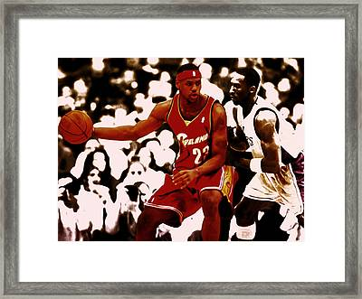 Two Kings At Work Framed Print by Brian Reaves