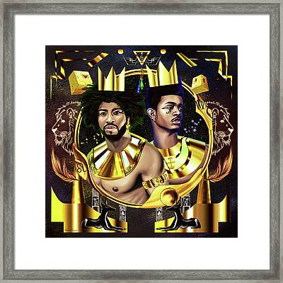 Two Kings Ian And Trevor Jackson Framed Print by Kenal Louis