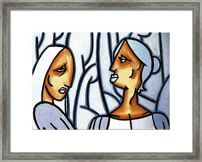 Two Ladies Framed Print
