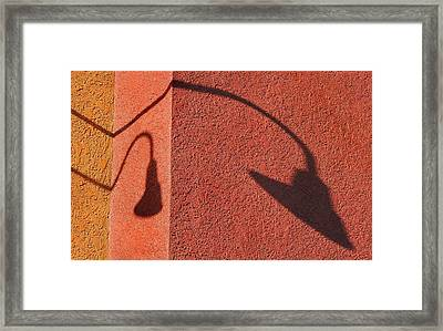 Two Lamps Framed Print by Dan Holm