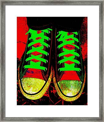 Two Left Feet Framed Print by Ed Smith