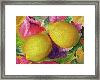 Two Lemons Framed Print