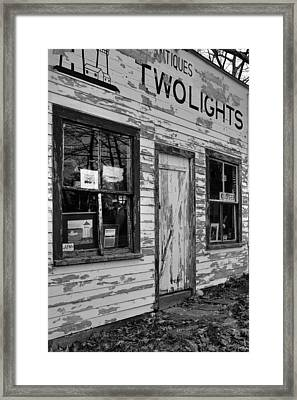Two Lights Storefront Framed Print
