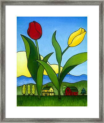 Two Lips Framed Print