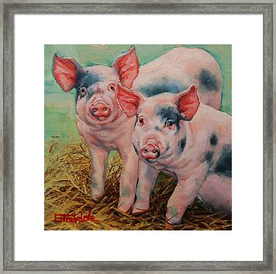 Two Little Pigs  Framed Print